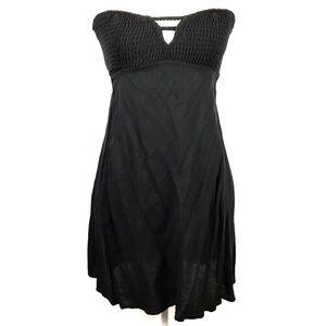 Tobi Women's Strapless Stretch Black Sundress Sz M